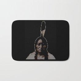 #1 Sitting Bull - RIP (Rest In Pixels) Bath Mat