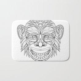 Chimpanzee Head Zentagle Bath Mat