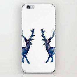 Winter Deer Snowflakes iPhone Skin