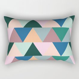 Triangular Geometric Pattern Rectangular Pillow