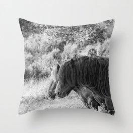 Pair of horses Throw Pillow