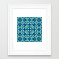 indigo Framed Art Prints featuring Indigo  by Laura Ruth