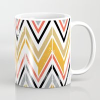 herringbone Mugs featuring herringbone by Emmy Winstead