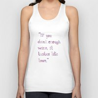 wine Tank Tops featuring Wine by S. L. Fina