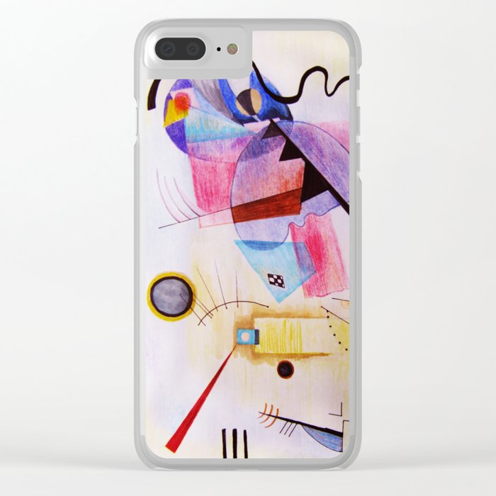 inspiration from Kandinsky . illustration Clear iPhone Case