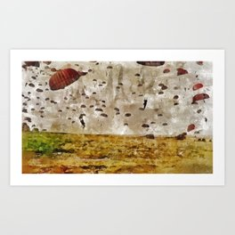 Operation Market Garden, WWII Art Print