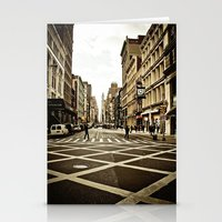 broadway Stationery Cards featuring Broadway by Randolph Pfaff