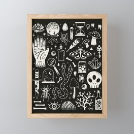 Curiosities: Bone Black Framed Mini Art Print