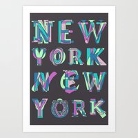 nyc Art Prints featuring NYC by Fimbis