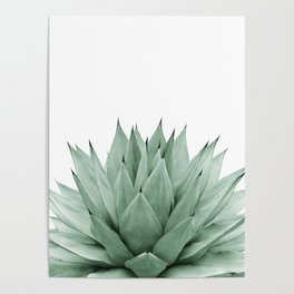 Agave Green Summer Vibes #1 #tropical #decor #art #society6 Poster