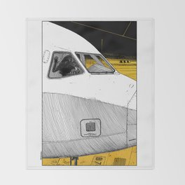 asc 698 - Le tarmac la nuit (Your flight was delayed due to technical problems) Throw Blanket