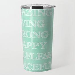 Pretty Mother's best describing words typography Travel Mug