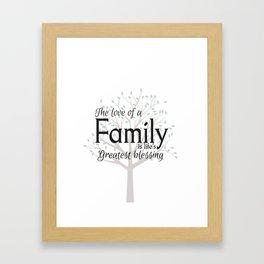 Family tree wall art quote Framed Art Print