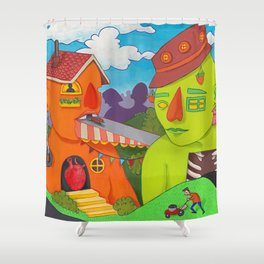 Avant City Shower Curtain