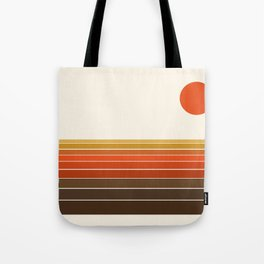Peace Out - sunset ocean surfing beach life 70s style retro 1970s design Tote Bag