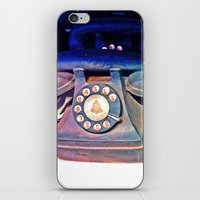 telephone iPhone & iPod Skins featuring Telephone by Parastar Arts