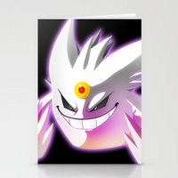 gengar Stationery Cards featuring Mega-Gengar by R-no71