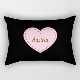 I Love Austria Simple Heart Design Rectangular Pillow