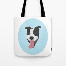 Smiley Pitbull Tote Bag