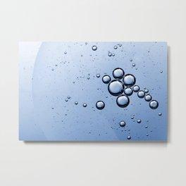 Blue Bubbles Metal Print