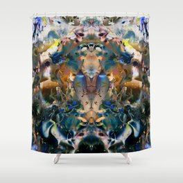 Sacred Molecule Shower Curtain