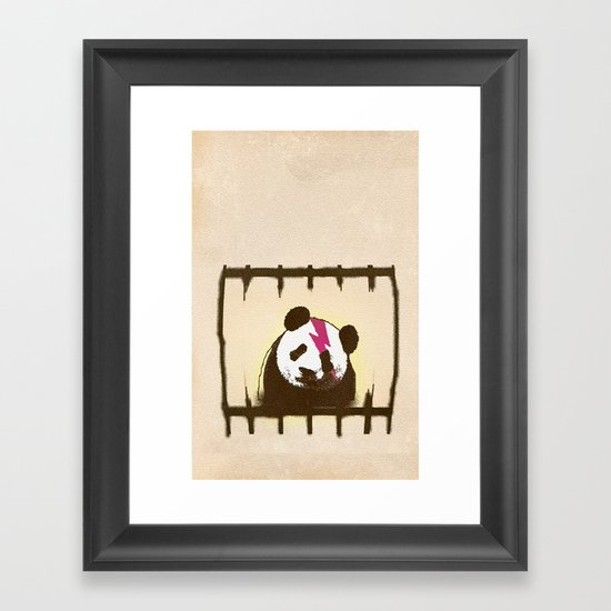 i will be more cool in my mountain Framed Art Print