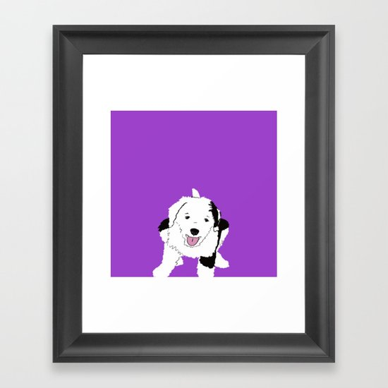 Gypsy The Sheepadoodle Framed Art Print