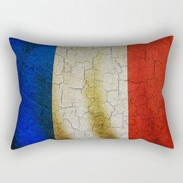 Cracked France flag Rectangular Pillow