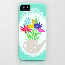 jars with flowers iPhone Case