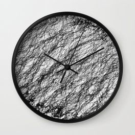 Black and White Connection Wall Clock