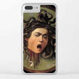"Michelangelo Merisi da Caravaggio ""Medusa"" Clear iPhone Case"
