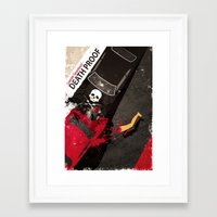quentin tarantino Framed Art Prints featuring Death Proof quentin tarantino alternate movie poster by iamloudness