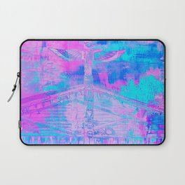 Totem Cabin Abstract - Hot Pink & Turquoise Laptop Sleeve