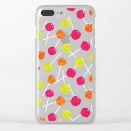 Watercolour Lolly Pops, Watercolor Popsicles Clear iPhone Case