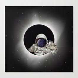 Black Hole Astronaut Canvas Print