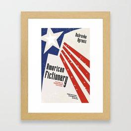 AMERICAN FICTIONARY Framed Art Print