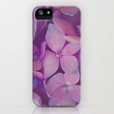 Pink Hydrangea iPhone (5, 5s) Slim Case