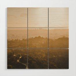 Golden Hour - Los Angeles, California Wood Wall Art