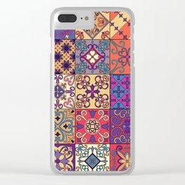 Vintage mosaic talavera ornament Clear iPhone Case