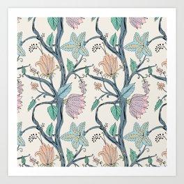 botanical pastel Art Print