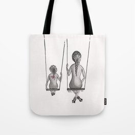 Mother&Daughter 3a Swings Tote Bag
