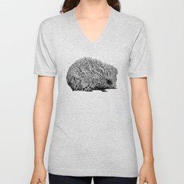 Leaf Hedgehog Unisex V-Neck