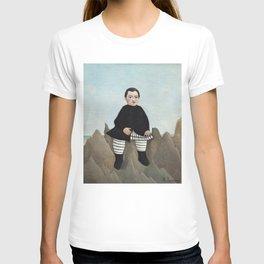 Boy on the Rocks (ca. 1895–1897), Fine french art,  by Henri Rousseau T-shirt