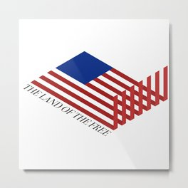"""The Land of the Free"" Metal Print"