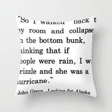 She Was a Hurricane Throw Pillow
