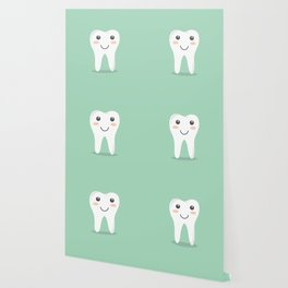 Big White Happy Tooth Wallpaper