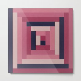 Pinkish Rectangular Squares Metal Print