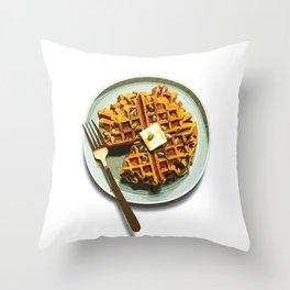Pumpkin Waffles Throw Pillow
