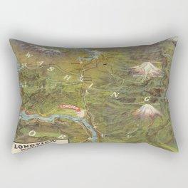 Vintage Washington and Oregon Pictorial Map (1923) Rectangular Pillow