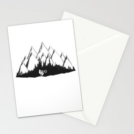 MTB Mountains Forest Stationery Cards